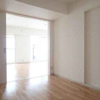 扉を開けると更に広く感じます。※写真は5階同間取り・別部屋のものです。