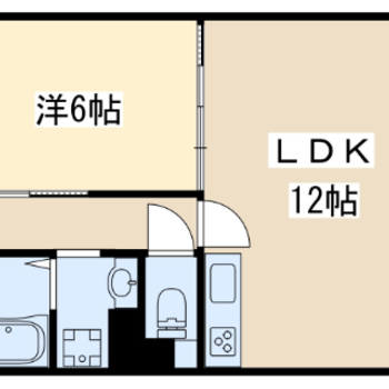 1LDKのお部屋です。