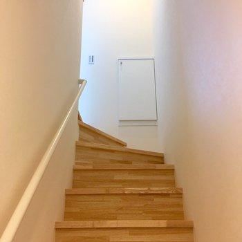 シューズボックスは、階段を登ったあそこ。