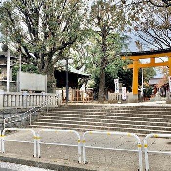 お部屋近くにはお寺があります。