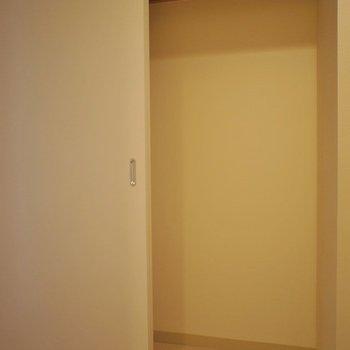 収納は廊下にあります。※写真は同タイプの別室。
