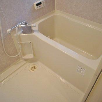 お風呂は普通サイズだけどまだまだ綺麗。※写真は同タイプの別室。