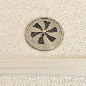開閉可能な換気扇。