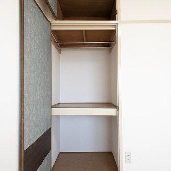 洋室】下段にボックスを入れたらさらに整理がしやすそう。