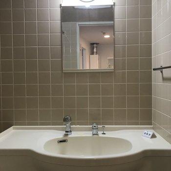 洗面台はお風呂場の中