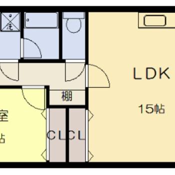実際のお部屋は反転間取りになります。