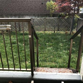 専用庭は天然芝?