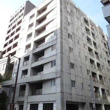 舞鶴公園そばに建つスタイリッシュなマンションです。