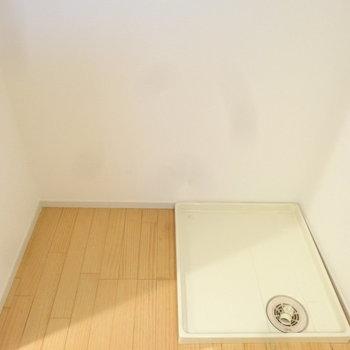 洗濯パンはキッチン背面に。お料理しつつお洗濯も!(※写真は3階の反転間取り別部屋のものです)