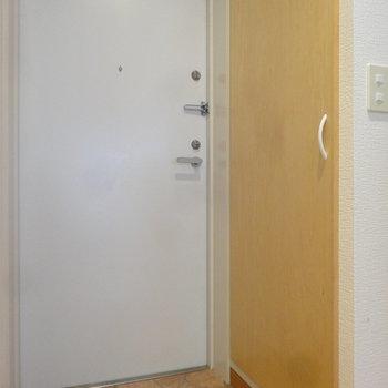 玄関には大きいシューズボックスもあります。(※写真は3階の反転間取り別部屋のものです)