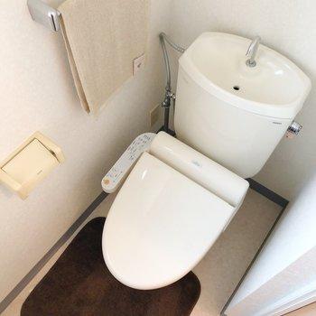 トイレは少しコンパクト。トイレはコンパクトな方が落ち着く方も多いのではないでしょうか?