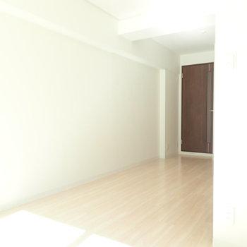 キッチンが見えなくなるからワンルームっぽくない。