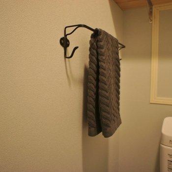 タオルハンガー、、、はなまる。※写真は1Fのお部屋。