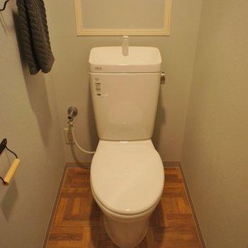 トイレ床もどつぼ、、、。※写真は1Fのお部屋。