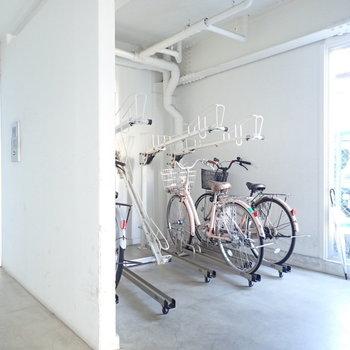 自転車置き場、なんかかわいい。