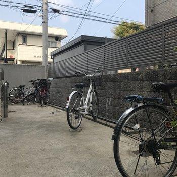 駐輪場もありますね!