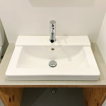 ゆったりサイズの洗面台、嬉しいな。