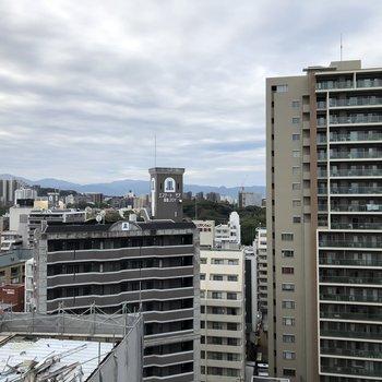 都会の眺望!圧迫感はありません!