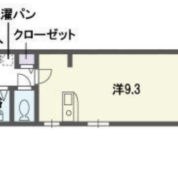 対面式キッチンのあるワンルーム。