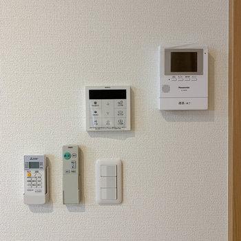 新築のお部屋なので、設備も新しいものが備わっています。