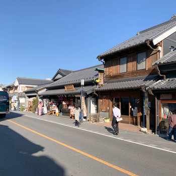 街の一角が江戸風情のある作りになっています。