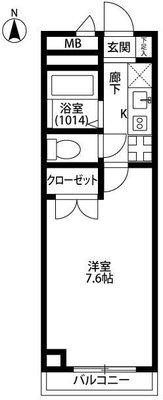 アンプルール フェール 横浜子安台 の間取り
