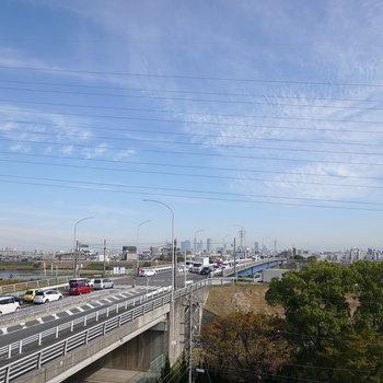 ここから名古屋駅の方面が一望できます。