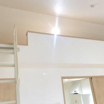 ロフト付きはやっぱり天井の高さが魅力ですよね。※写真は2階の同間取り別部屋のものです