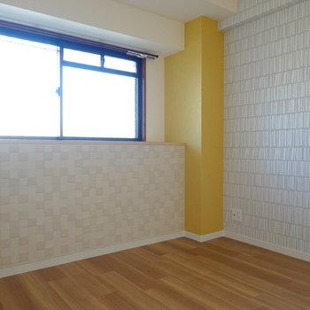 4.5帖の洋室は可愛らしい内装。子ども部屋にピッタリかも。