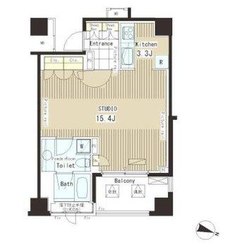 廊下がなく、居室から各設備にアクセスしやすい間取りです。