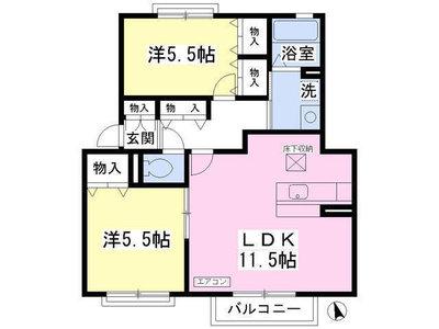 長津田20分アパート の間取り