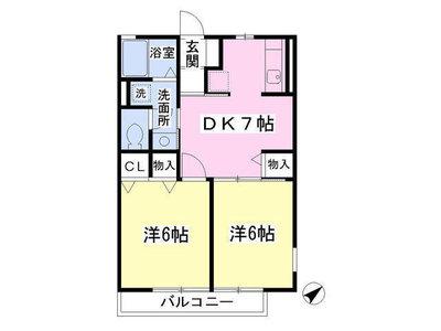高座渋谷17分アパート の間取り