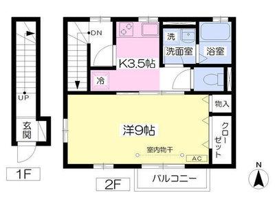 高座渋谷5分アパート の間取り