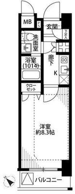 プレール・ドゥーク東京EASTⅢ の間取り