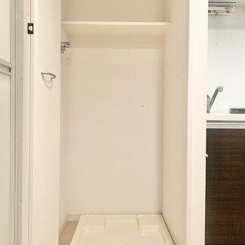 洗濯機は扉で目隠しできますよ