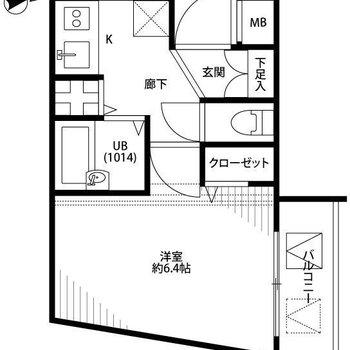 廊下広めで家事動線も確保しやすいですね