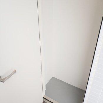 玄関の横にはトランクルームあります!※写真は5階の同間取り別部屋のものです