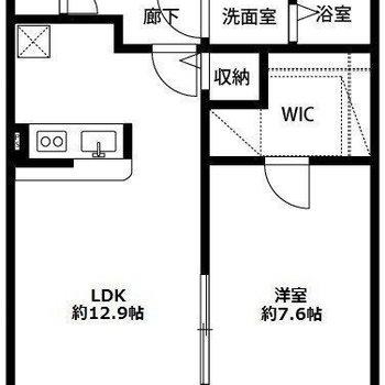 二人暮らしにおすすめ1LDKのお部屋。