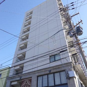 お部屋は9階にあります。