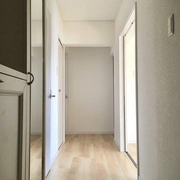 玄関入って左側にサニタリースペース。