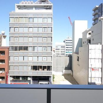 眺望は街中の割には意外と心地良い。