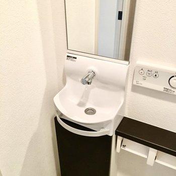 手洗い場もついてるんですよ〜※写真は7階同間取り・別部屋のものです。
