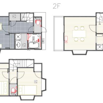 2階が入り口ですよ。