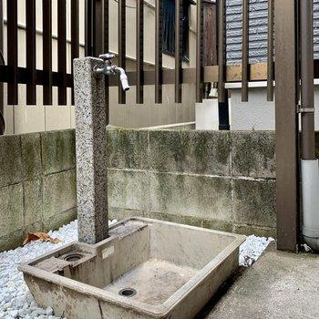 【1階】水道もあるので、すぐ手が洗えますね。