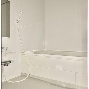 お風呂もゆったり入れそうです。※写真はフラッシュを使用して撮影しています。