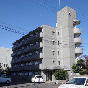 マンションの5階、2階がお部屋です。