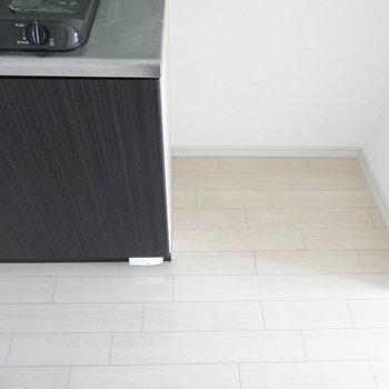 冷蔵庫スペースはこのくらい。