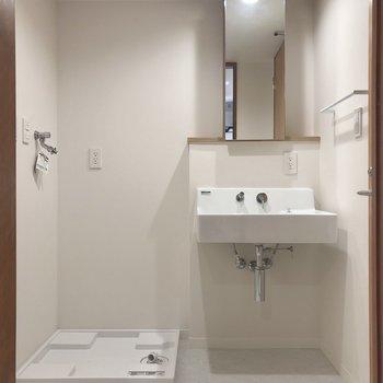 洗濯物をぽいしてお風呂に入れますよ。