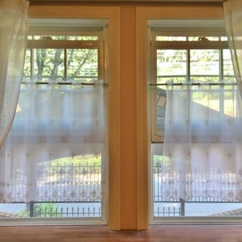 窓のデザインも抜かりなし