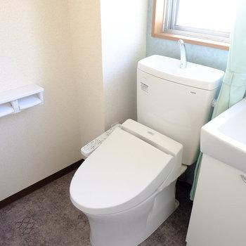 トイレはウォシュレット付きのきれいなものに!